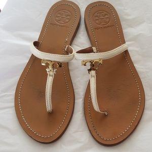 Tory Burch White Sandals